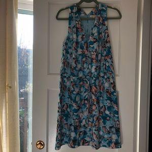 Rebecca Taylor aloha print silk dress, size 4